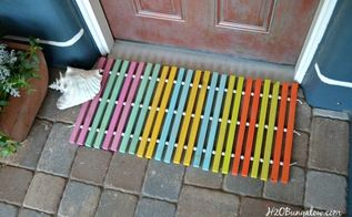 diy wood doormat, doors, how to, outdoor living