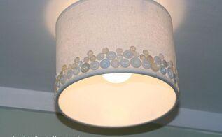 diy button light shade, how to, lighting, repurposing upcycling