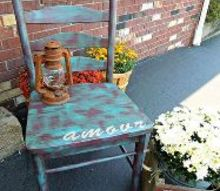 refurbished shabby wood chair, painted furniture