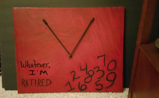 retirement canvas clock, crafts, how to