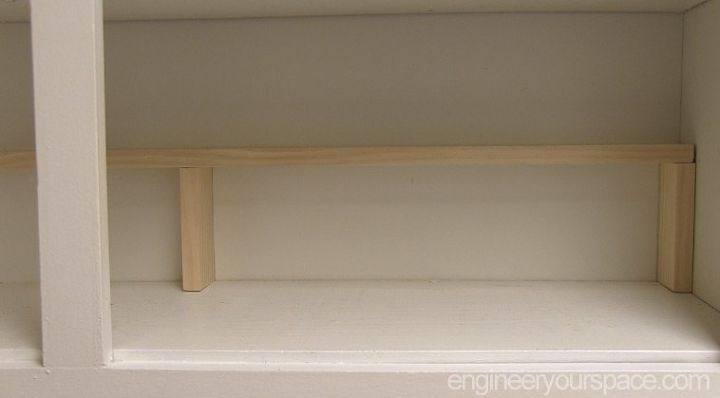 Small kitchen ideas add an extra shelf in your cubboards for Additional shelves for kitchen cabinets