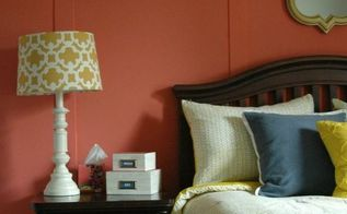 navy coral and yellow girls bedroom makeover, bedroom ideas, paint colors, painting, wall decor