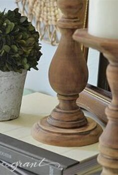 the easiest way to diy some rustic wood candlesticks, crafts, how to