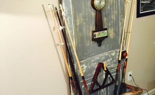 vintage door pool cue holder itscentsational, doors, entertainment rec rooms