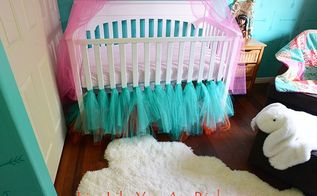 how to make a ballerina tulle crib skirt, bedroom ideas, crafts, how to, reupholster