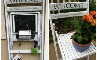 repurposed folding wood chair to organization caddy, organizing, repurposing upcycling, Chair Upcycle Organization Caddy