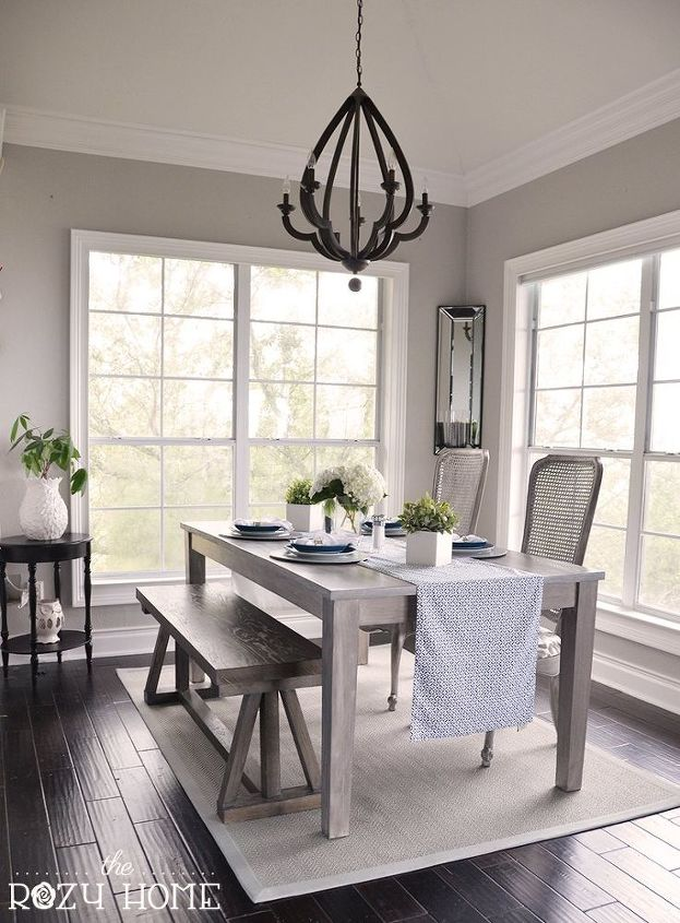 Goodbye 80 S Dining Area Remodel Dining Room Ideas Home Improvement