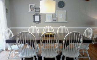 dining room makeover, dining room ideas, painted furniture, wall decor