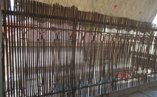 bamboo fence for porch, fences, how to, porches, repurposing upcycling