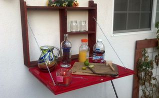 outdoor cabinet hanging bar, outdoor living, repurposing upcycling