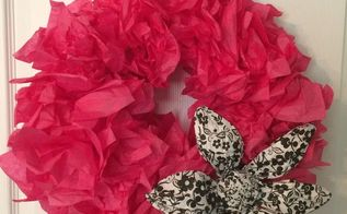 easy diy tissue paper wreath, crafts, how to, wreaths