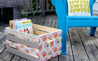 repurposed crate to magazine storage, crafts, decoupage, repurposing upcycling