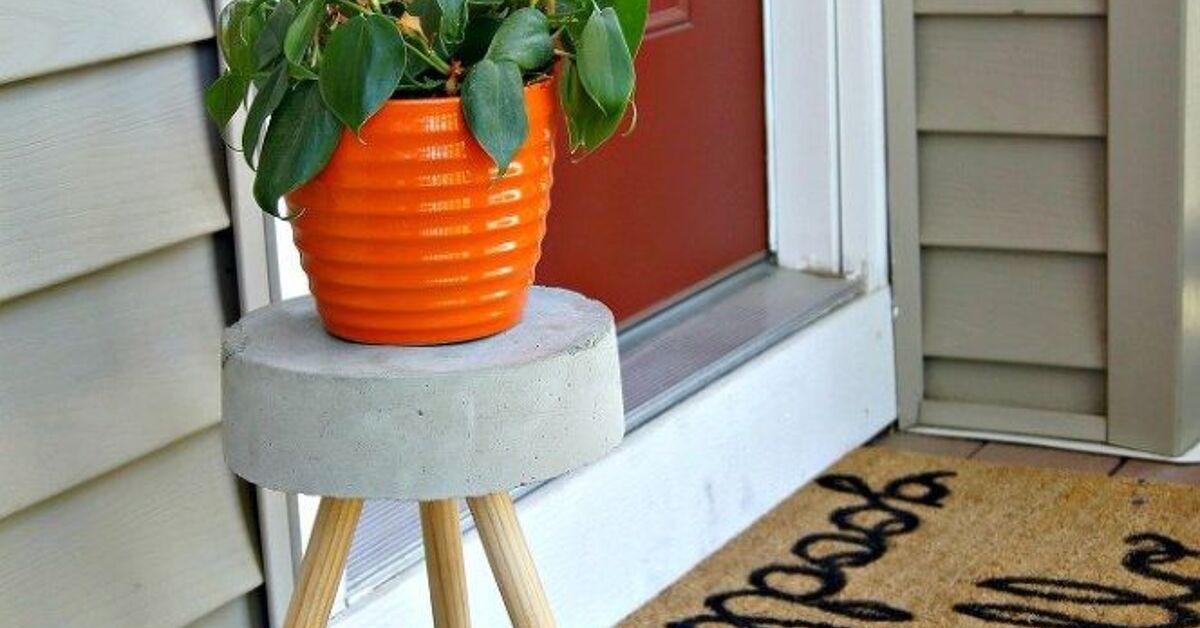 5 Diy Concrete Plant Stand Hometalk