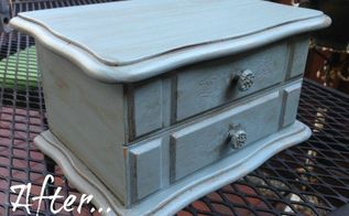 using fusion mineral paint to update a thrift store jewelry box, crafts, how to