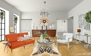 nostalgic but fresh midcentury modern, home decor, living room ideas