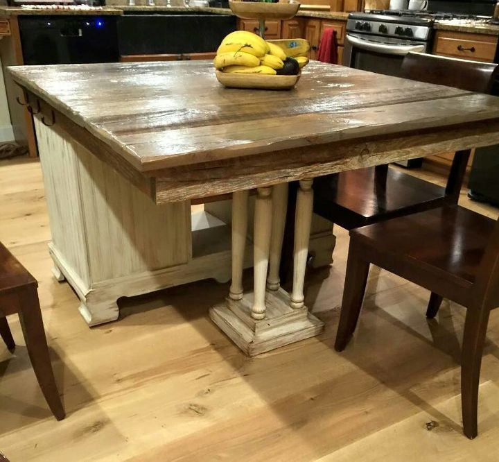 rustic diy dresser kitchen island idea | From Buffet to Rustic Kitchen Island | Hometalk