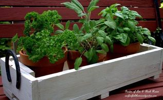 horseshoe handled herb box our fairfield home and garden, container gardening, gardening, how to, repurposing upcycling, woodworking projects, Horseshoe Handled Herb Box