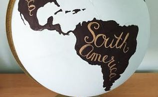 easy and inexpensive diy painted globe, crafts, how to