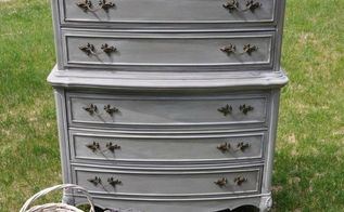 french dresser makeover, painted furniture