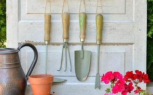 using a repurposed rake to organize garden tools, gardening, organizing, repurposing upcycling, tools