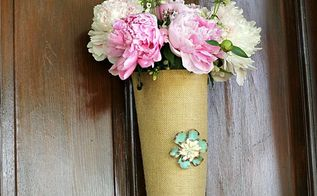 repurposed soda bottle to hanging burlap flower vase, crafts, flowers, gardening, home decor, repurposing upcycling