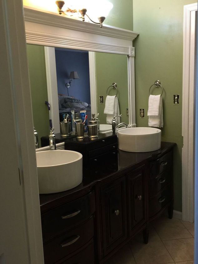 Outdated bathroom gets a budget update hometalk for Updated small bathroom ideas