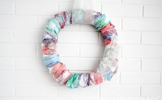 diy watercolor wreath using repurposed coffee filters, crafts, how to, repurposing upcycling, wreaths