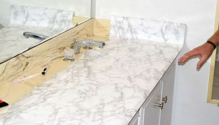 Master Bathroom Faux Marble Makeover In The Home Bathroom Ideas Countertops
