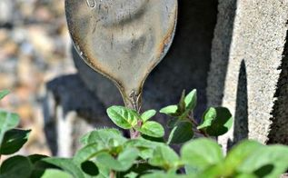 repurposed cutlery to herb markers, crafts, gardening, how to, repurposing upcycling