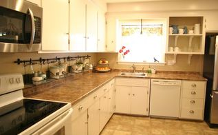 how to declutter kitchen countertops, countertops, how to, kitchen design, organizing