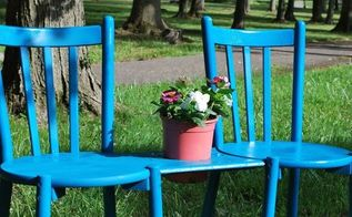 chair bench with planter, gardening, how to, outdoor furniture, painted furniture, repurposing upcycling