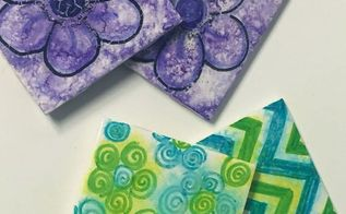 make fun and easy tile coasters with sharpies, crafts, repurposing upcycling, tiling