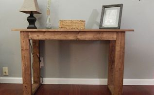 diy console table, diy, how to, painted furniture, rustic furniture, woodworking projects