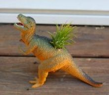 jurassic park inspired air plant holder reuseit, container gardening, crafts, gardening, how to, repurposing upcycling