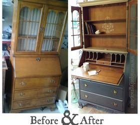 Jasper Cabinets Secretary Desk Hutch Furniture Makeover, Chalk Paint,  Painted Furniture ...