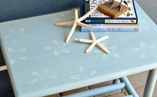 beachy starfish small table, painted furniture