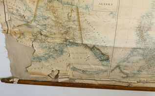 How To Repair A Vintage Map Home Decor How To Repurposing Upcycling