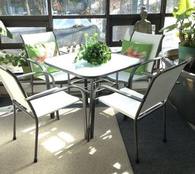 Same Patio Set After Painting