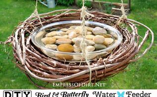 easy bird bee butterfly water feeder, crafts, how to, outdoor living, pets animals, repurposing upcycling