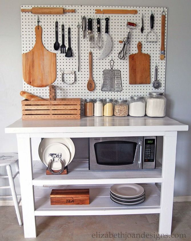 Kitchen pegboard hometalk for Kitchen pegboard ideas