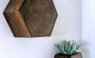 hexagon wall planters, gardening, home decor, how to, wall decor, woodworking projects