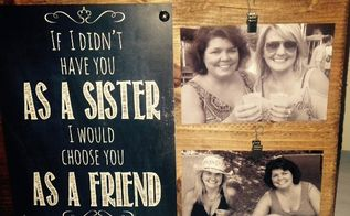 wood block photo sister gift, crafts, how to