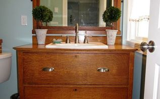 from dresser to bathroom vanity, bathroom ideas, painted furniture, repurposing upcycling