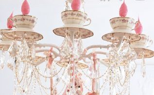 make a teacup chandelier, lighting, repurposing upcycling