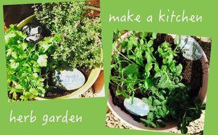 plant a kitchen herb garden, container gardening, gardening, home decor