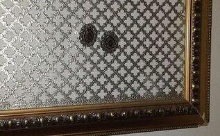 framed metal sheet, repurposing upcycling, wall decor