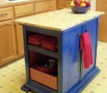 turn nightstands into a kitchen island, kitchen design, kitchen island, painted furniture, repurposing upcycling