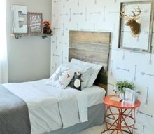 a tribal arrows stenciled boys bedroom, bedroom ideas, painting, wall decor