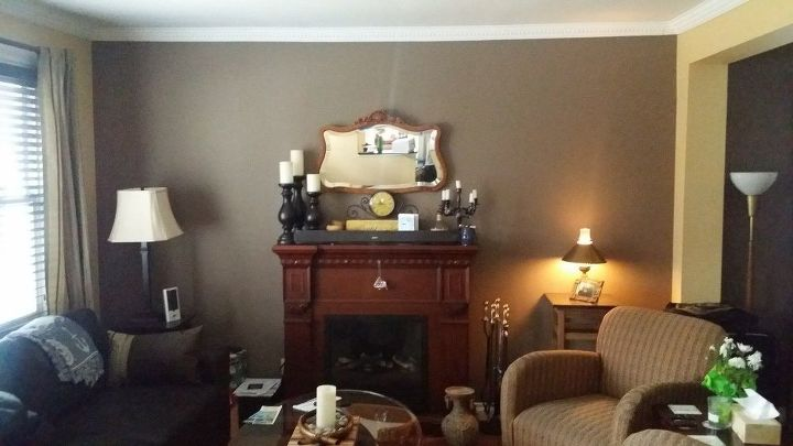 Living Room And Mantle Makeover Diy Fireplaces Mantels How To