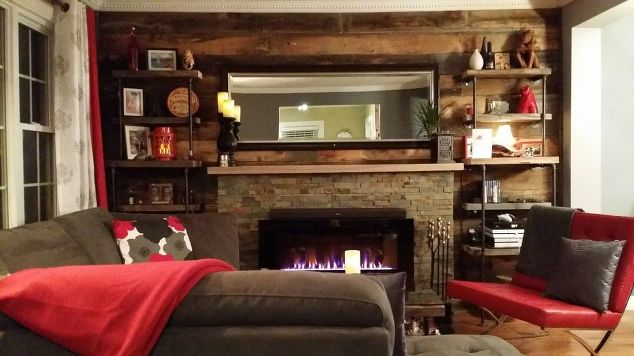 Living Room And Mantle Makeover Diy Fireplaces Mantels How To Finished Fireplace Wall